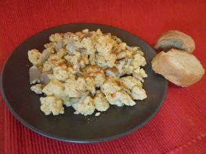 Mushroom Scramble Eggs